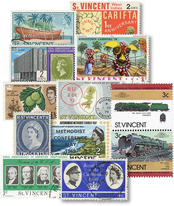 St Vincent 50 Different Stamps