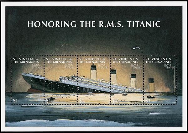 St. Vincent Grenadines Titanic  Sheet