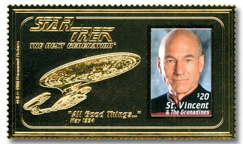 'All Good Things...' Star Trek Next Generation Souvenir Sheet with Gold Foil