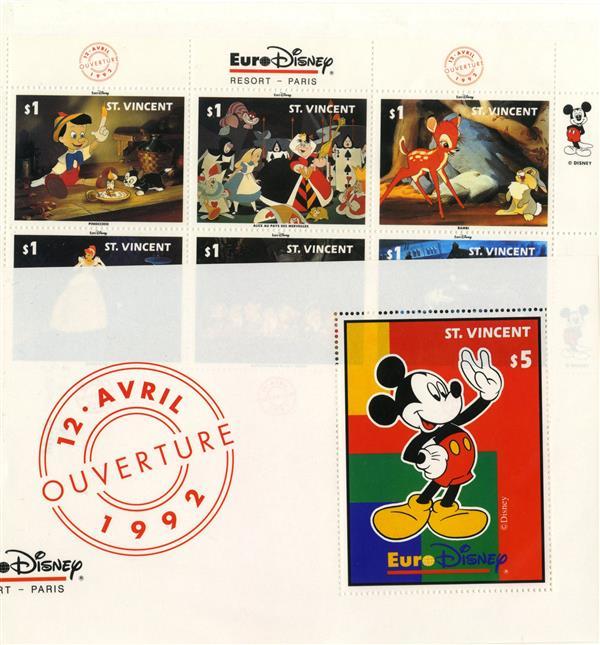 St. Vincent 1992 Euro Disney