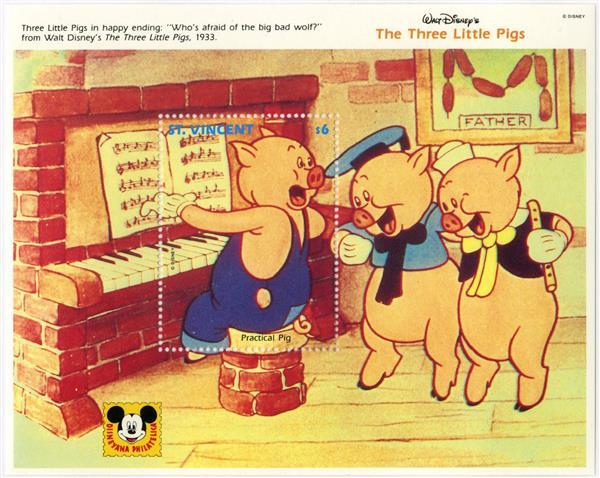St. Vincent 1992 Little pigs & piano S/S