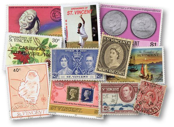 St. Vincent & Grenadines, 400 used stamps
