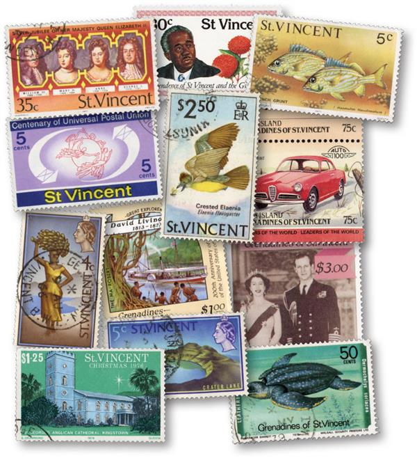 St. Vincent and the Grenadines, 590 used stamps