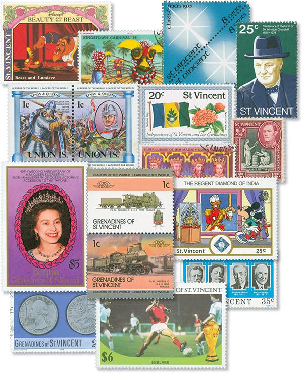 St. Vincent & Grenadines, 200 stamps