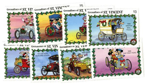 St. Vincent 1989 Classic Autos, 8 stamps
