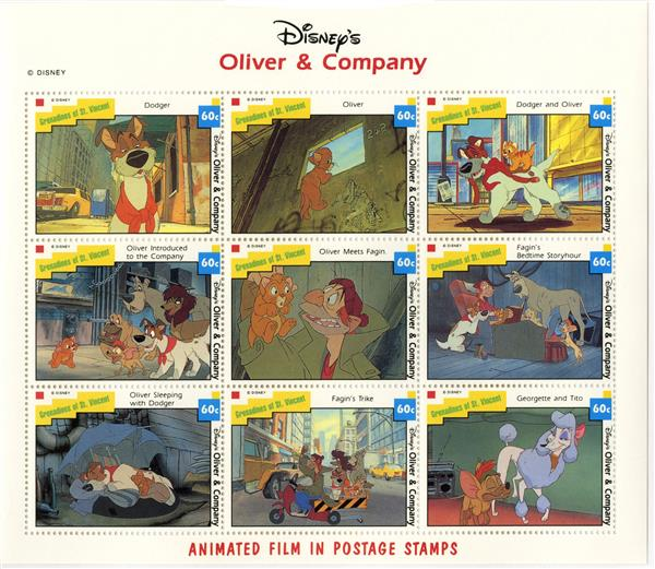 St. Vincent 1992 Oliver & Co., 9 Stamps