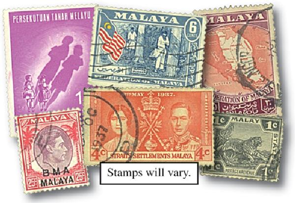 Straits Settlement, set of 25