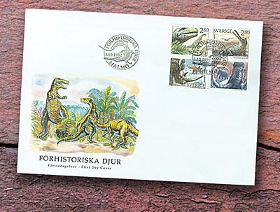 1992 Dinosaurs First Day Cover