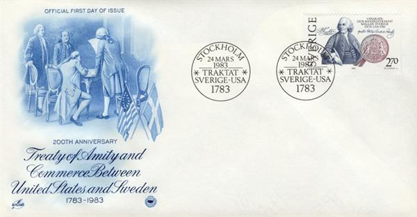1983 Sweden #1453 - 200th Anniversary of the Treaty of Amity and Commerce with United States