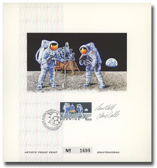 1994 25th Anniversary of the Moon Landing Autographed FDC Card