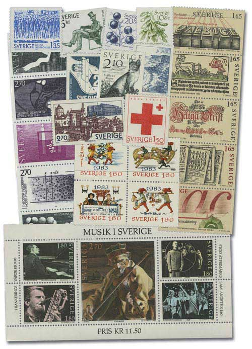 Sweden 1983 Mint Year Set
