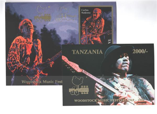 1995 Tanzania Woodstock Music Festival 25th Anniversary - Carlos Santana & Jimi Hendrix