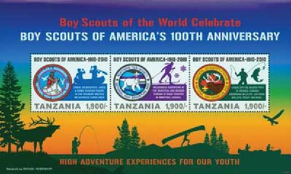 2010 Tanzania Boy Scouts 3v M