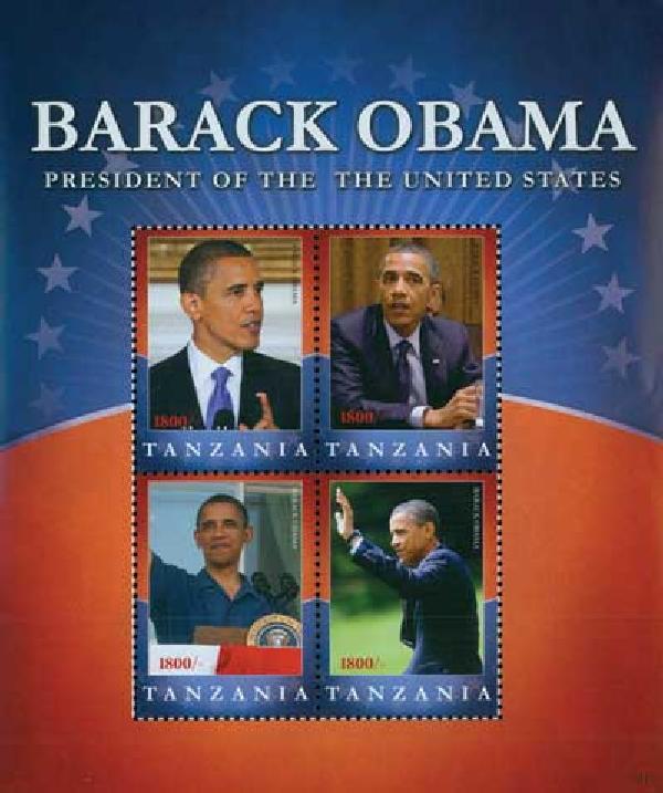 2010 Tanzania Barack Obama 4v M