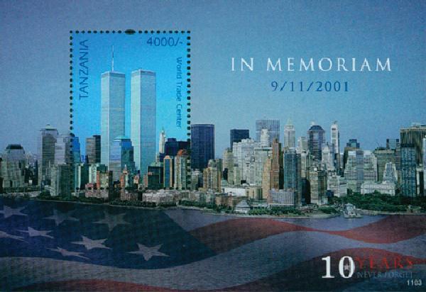 2011 Tanzania 9/11 10th Anniversary s/s