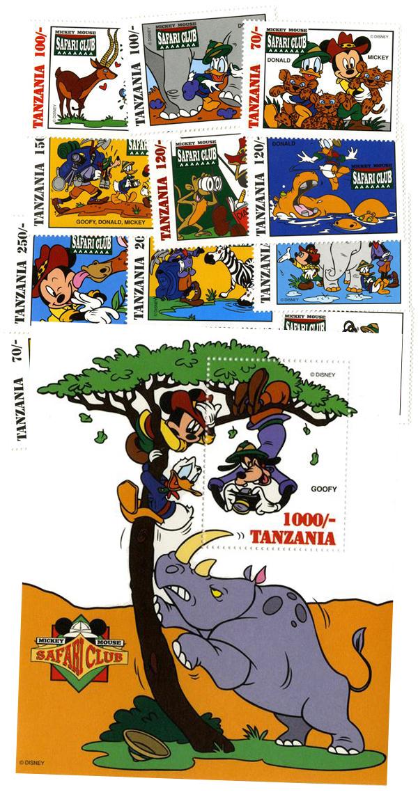 Tanzania 1994 Mickey Mouse - Safari Club