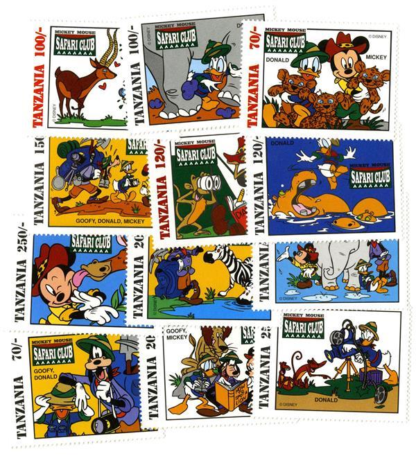 Tanzania 1994 Safari Club, 12 Stamps