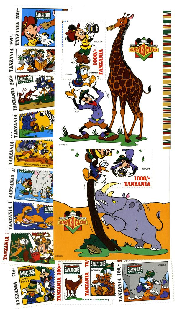 Mickey Mouse Safari 12 Stamps 2 S For Sale At Mystic Stamp Company