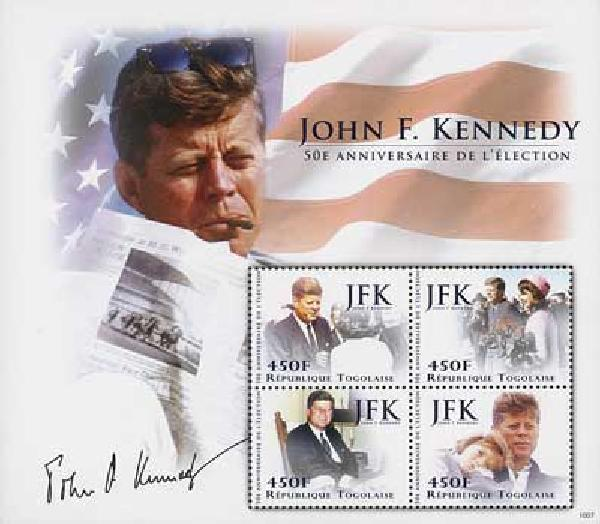 2010 Togo JFK 50th Anniv 4v Mint