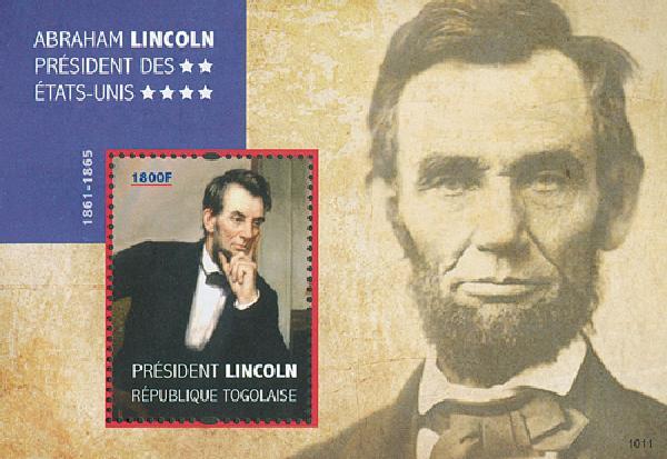 2010 Togo Abe Lincoln s/s Mint