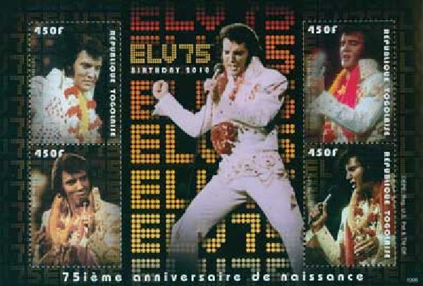 2010 Togo Elvis Presley 4v Mint