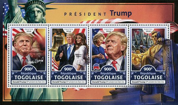 2016 President Donald Trump sheet of 4