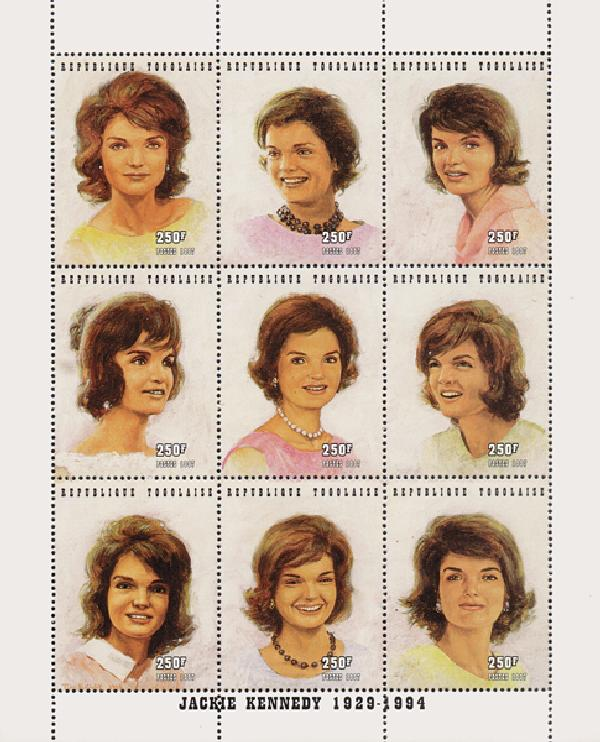 Togo Jackie Kennedy set of 9, mint