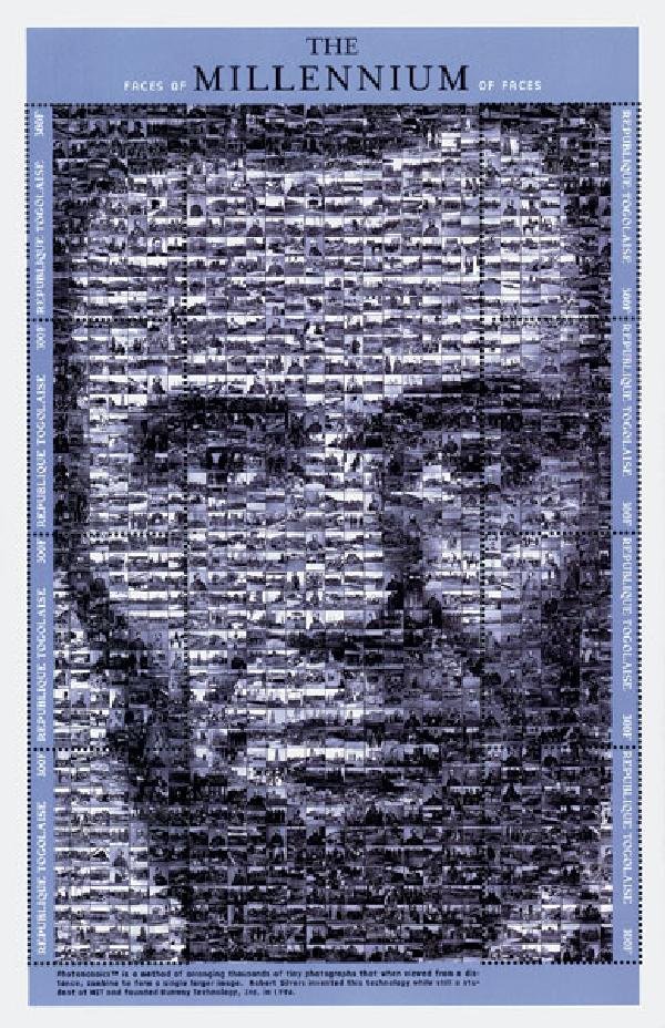 Togo 1999 Abraham Lincoln Photomosaic Stamo Sheet