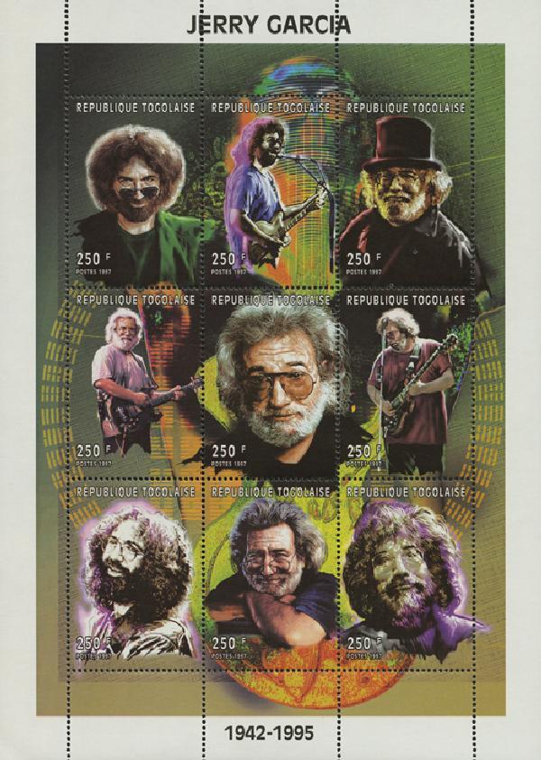 1998 Togo 1831a-i Jerry Garcia