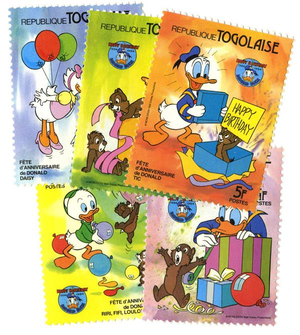 Togo 1984 Donald Duck 50th Anniversary