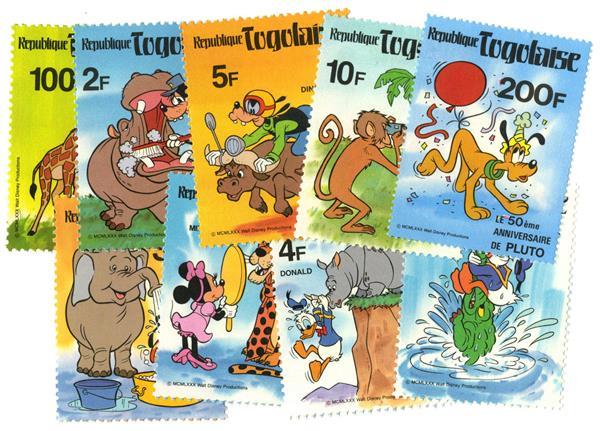 Togo 1980 Wildlife Scenes, 9 stamps