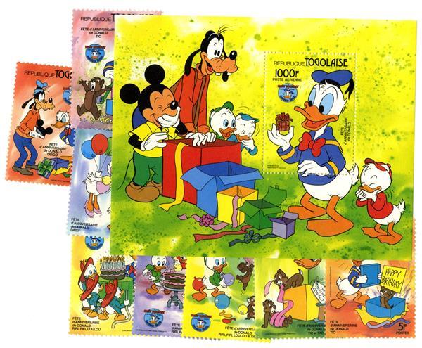 Togo 1984 Donald Duck, 50th Anniversary