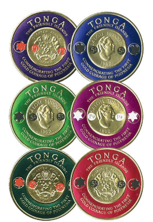 1965 Tonga 140-45 6v Mint
