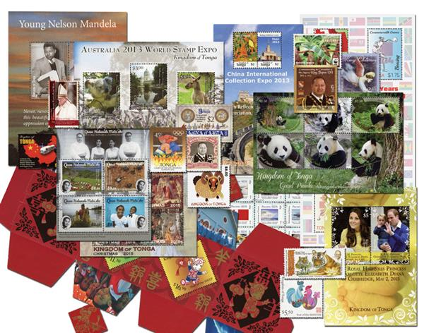 2012-16 Tonga Stamp Collection Mint, 169 Stamps