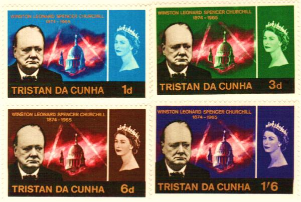 Tristan da Cunha #89-92 – During his life Churchill wrote about 3,000 speeches and dozens of books.