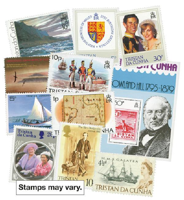 Tristan da Cunha, 100 stamps