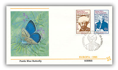 1985 100 Turkey Cyprus FDC Europa 85 Cover #2