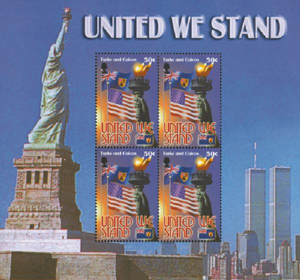Turks & Caicos 50c 'United We Stand' souvenir sheet