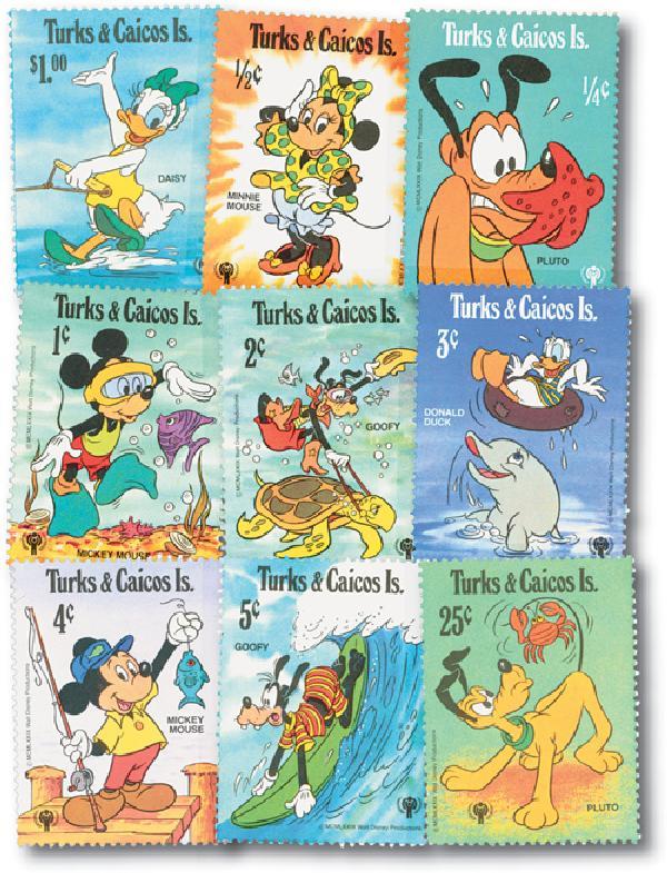 Turks & Caicos 1979 IYC: Aquatic Scenes