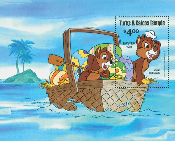 Turks & Caicos 1981 Chip and Dale, S/S