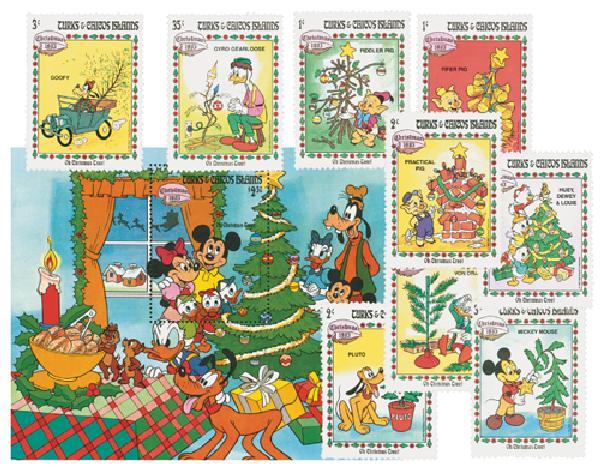 """Turks & Caicos 1983 """"Oh Christmas Tree"""""""