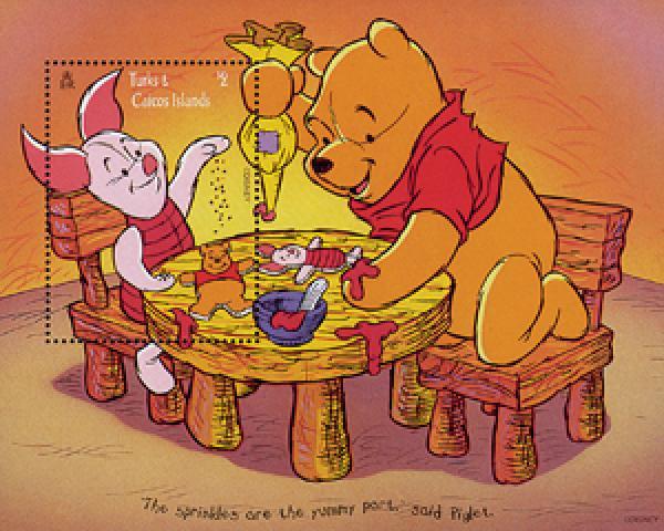 "Turks & Caicos 1996 ""Winnie the Pooh"""