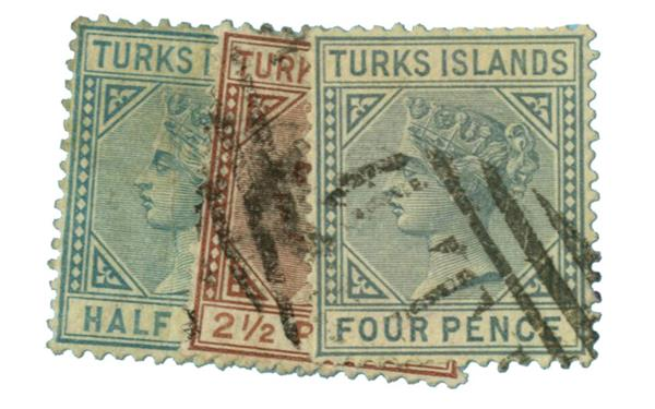1882-85 Turks Islands
