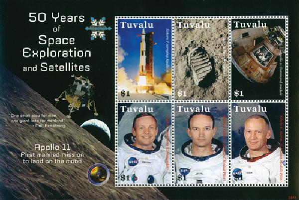 2008 Tuvalu - Apollo 11 Souvenir Sheet, 6 stamps