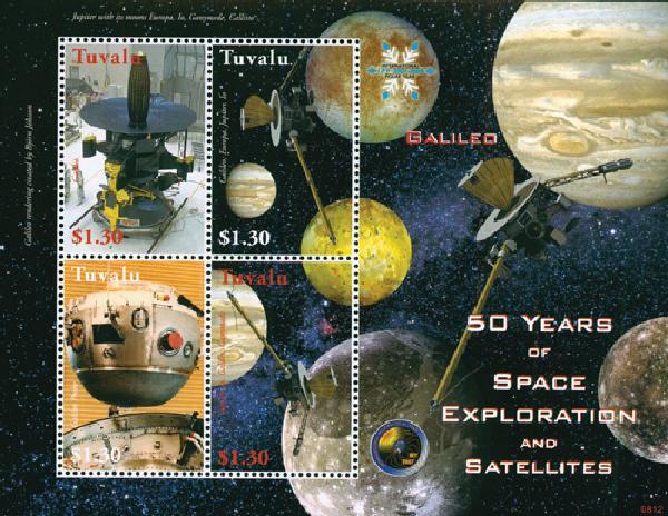 2008 Tuvalu Galileo 4v Mint