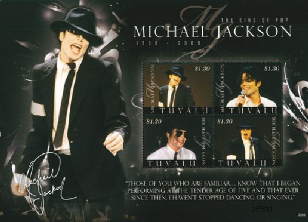2009 Tuvalu Michael Jackson 4v Mint