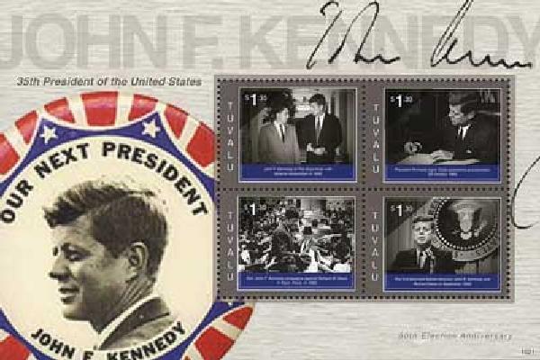 2010 Tuvalu JFK 50th Anniv 4v Mint