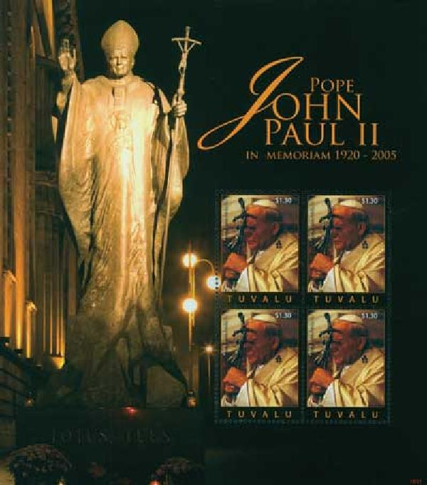 2010 Tuvalu Pope John Paul II 4v M