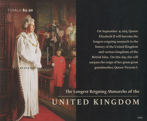 2015 Longest Reigning Monarchs of UK s/s