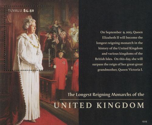 2015 Longest Reigning Monarchs of UK s/s